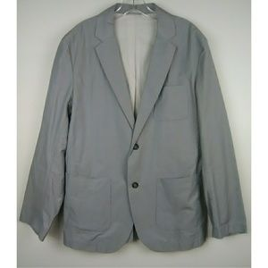 French Connection Lightweight Blazer Sz 40 Gray
